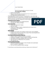 advocacy panel notes docx