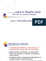 FILOSOFIA MINTII 2 Fizicalismul Reductiv