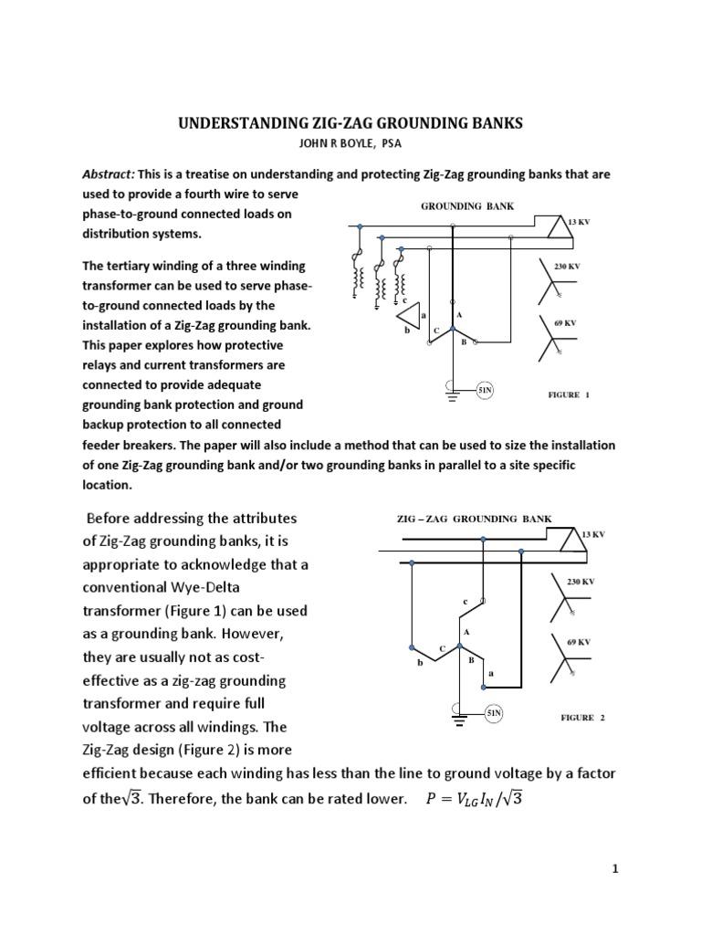 [SCHEMATICS_4NL]  Georgia Tech Zig Zag Grounding Transformers | Physical Quantities |  Components | Zig Zag Transformer Wiring Diagram |  | Scribd