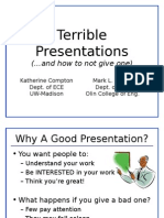Terrible Presentations and how not to give one