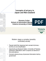 Privacy in Japan and New Zealand