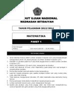 Latihan Soal Un Sd Mi Matematika Paket 1