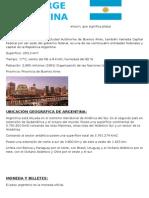 Monografia de Argentina