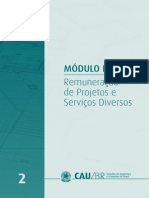 TABELAS DE HONORÁRIOS DE SERVIÇOS DE ARQUITETURA E URBANISMO DO BRASIL.2