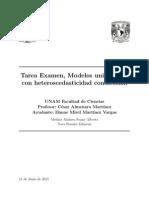 Tarea Examen de Series de Tiempo Modelos GARCH