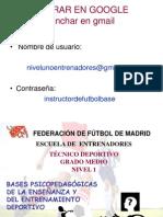 BASES PSICOPEDAGÓGICAS DE LA ENSEÑANZA Y DEL ENTRENAMIENTO DEPORTIVO