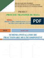 PROIECT  PROCESE TRANSFER DE MASA