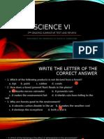 2nd Grading Science Vi Summative Test