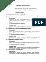 Especificaciones Tecnicas - 04. Instalaciones Sanitarias