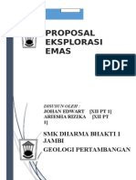 Laporan Proposal Eksplorasi Emas Di Pongkor Bogor - Johan Edwart