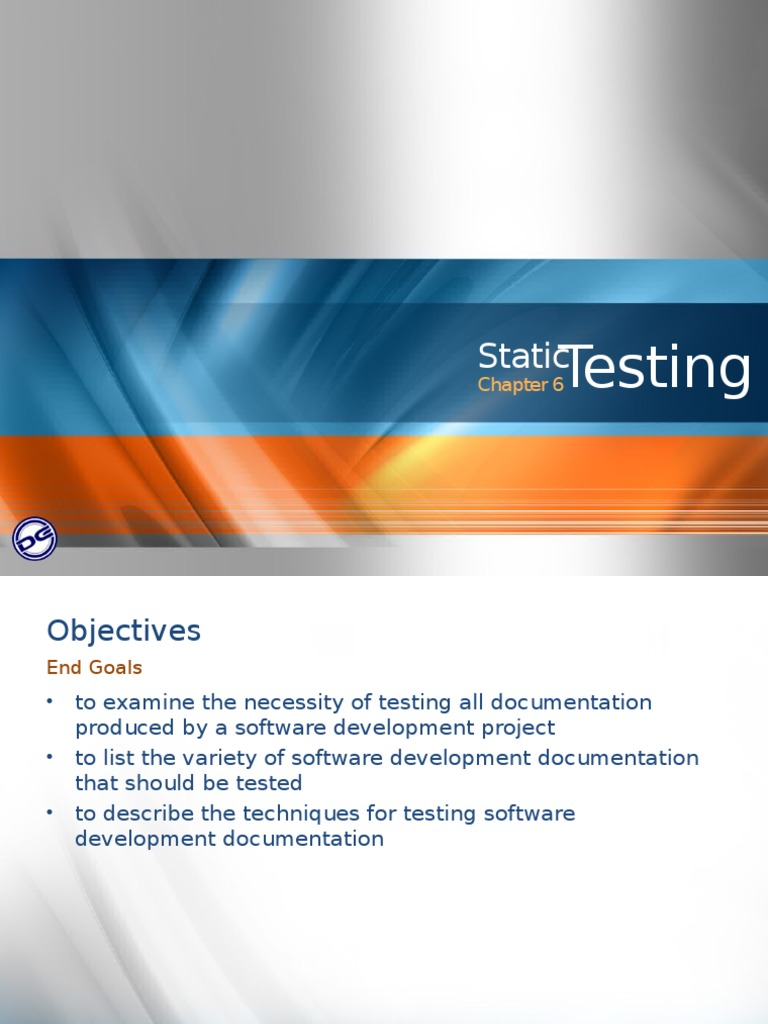 06 Static Testing | Documentation | Software Development