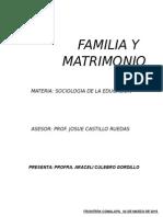Familia y Matrimonio.-
