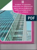 II. Analisis de Precios Unitarios de Referencias Para Obras Civiles en Edificaciones en El Area Urbana