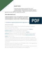 Performance Appraisal Video