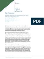 Examination of Select Post-Secondary Financial Aid Programs