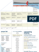 June Calendar and Prayer List