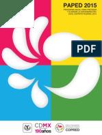Programa Anual para Prevenir y Eliminar la Discriminación en el Distrito Federal 2015