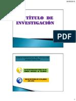 Titulo de Investigación en tesis