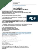 Deutschland Stipendium Datenbank de 1 0 Zusaetzliche Hinweise Fuer Daad Studienstipendien Im Fachbereich Musik
