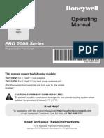 manual de operacion Pro2000