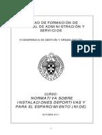 Normativa Deportiva de Construcciony Instalaciones
