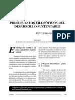 Presupuestos sustentables de derecho sustentable