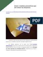 Lavado de Dinero, Medidas Preventivas Que Deben Tomar Las Empresas