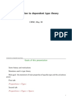 Introduction to dependent type theory by Yves Lafont