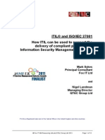 Itil and Iso27001 v3