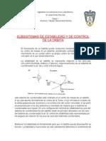 Subsistemas de Estabilidad y de Control de La Orbita