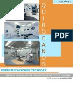 Manual Técnico de Especificaciones en Áreas de Quirofanos