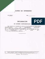 Declaración de bienes de Felipe Ramos