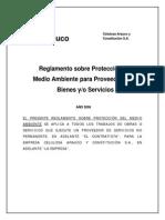 02- Reglamento Sobre Protección Del Medio Ambiente Para Proveedores y Servicios