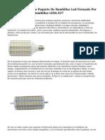 Ahorre Con Nuestro Paquete De Bombillas Led Formado Por diez Unidades De Bombillas LEDs E27