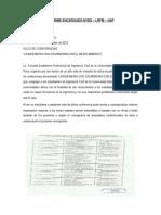 INFORME ENCARGADO Nº001