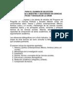 UNAM Guia Examen Seleccion DOCTORADO EN CIENCIAS SOCIALES