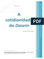 A Cotidianidade Do Dasein