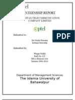Internship report ptcl 2009
