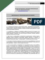 299. PROFESIONALIDAD DE LOS DOCENTES Y LOS DOCENTES COMO PROFESIONALES