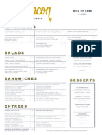 Sugarbacon menus