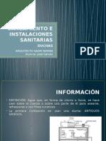 Saneamiento e Instalaciones Sanitarias Duchas