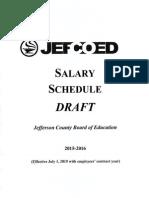 Jefferson County Schools Salary Schedule Draft