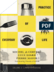 De Certeau Giard Mayol the Practice of Everyday Life Vol 2 Living and Cooking