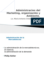 Administracion del Marketing, Organización y  Ambiente (1)