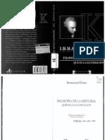 Kant Emmanuel - Filosofia de La Historia - Que Es La Ilustracion