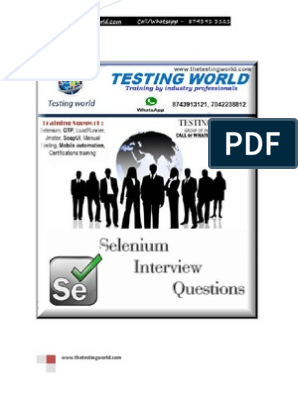 Selenium Java Interview Questions | Inheritance (Object