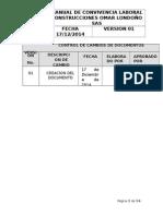 Manual de Convivencia Construcciones Omar Londoño Sas 2014