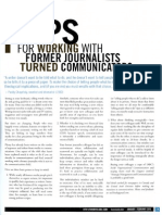 Working with Former Journalists-turned-Corporate-Communicators - 3 Tips