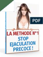 La Méthode n°1 - STOP EJACULATION PRECOCE