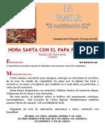 HORA SANTA CON EL PAPA